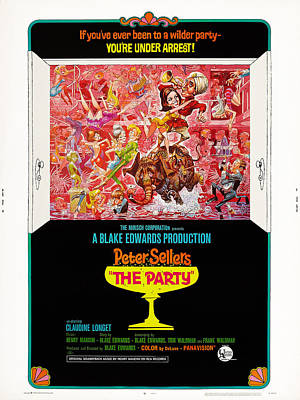 The Party, Us Poster Art, Top Claudine Poster by Everett