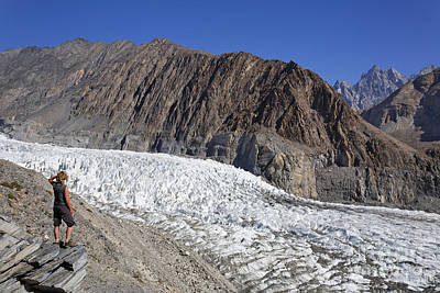 The Passu Glacier And Mountains In Pakistan Poster by Robert Preston