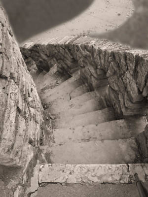 Castle Stairs Poster by Don Spenner