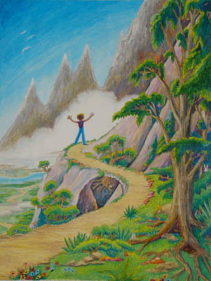 Poster featuring the painting The Path by Matt Konar