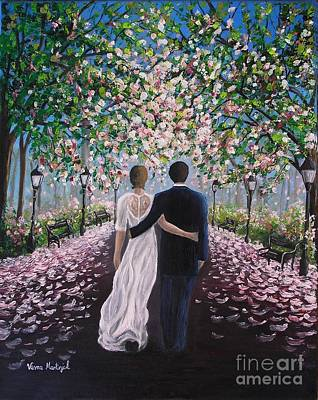 Poster featuring the painting The Path Of Love  by Vesna Martinjak