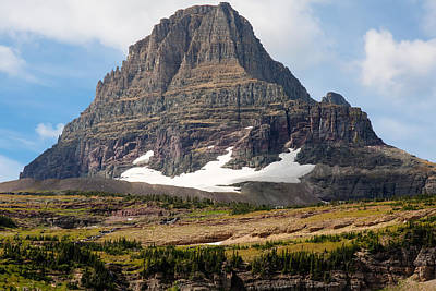 Poster featuring the photograph The Peak At Logans Pass by John M Bailey