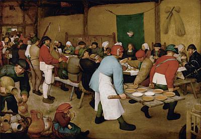 The Peasant Wedding Poster by Pieter Bruegel the Elder