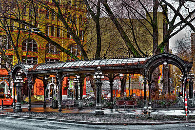 The Pergola In Pioneer Square - Seattle  Poster by David Patterson