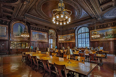 The Periodical Room At The New York Public Library Poster