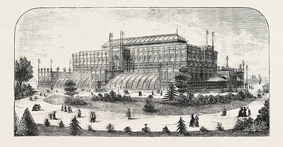 The Philadelphia Exhibition, The Horticultural Buiding Poster by American School