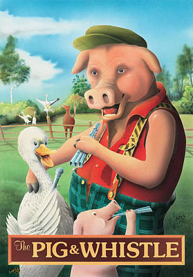 The Pig & Whistle Poster by Peter Green