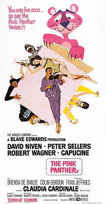 The Pink Panther, Us Poster Art, Center Poster by Everett