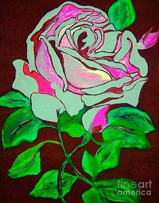 The Pink Rose Abstract Poster by Saundra Myles
