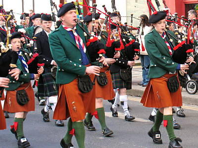 Poster featuring the photograph The Pipers by Suzanne Oesterling