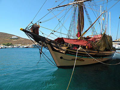 Poster featuring the photograph The Pirate Ship  by Micki Findlay
