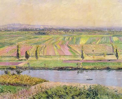 The Plain Of Gennevilliers From The Hills Of Argenteuil Poster by Gustave Caillebotte