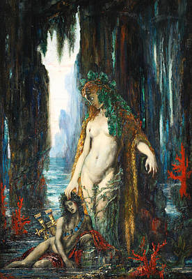 The Poet And The Siren Poster by Gustave Moreau