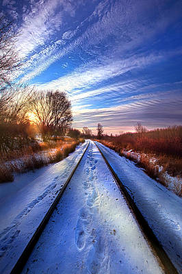 The Polar Bear Express Poster by Phil Koch