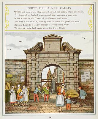 The Port Town Of Calais Poster by British Library