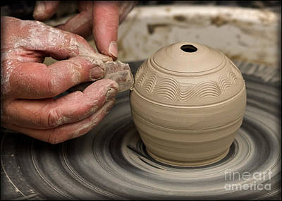 Poster featuring the photograph The Potter's Wheel by Liz  Alderdice