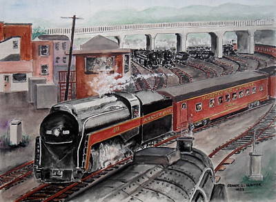 The Powhatan Arrow Roars Through The Yards Into Portmouth Poster