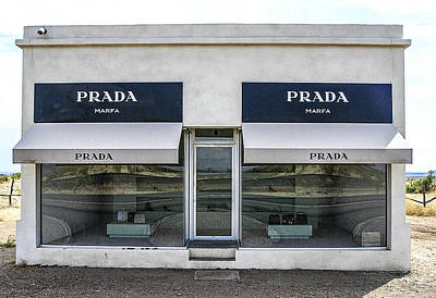 The Prada Installation In Marfa Poster by Rebecca Dru