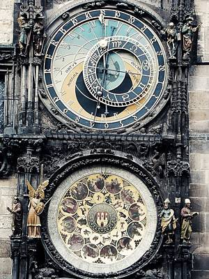 The Prague Orloj Poster by Zinvolle Art