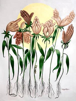 The Prayer Garden Poster by Anthony Falbo