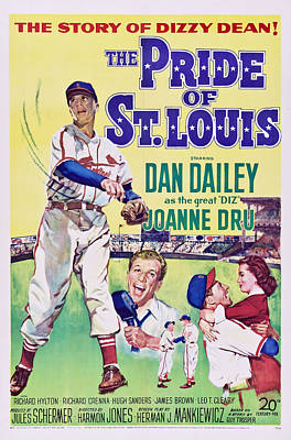 The Pride Of St.louis, Dan Dailey Poster by Everett