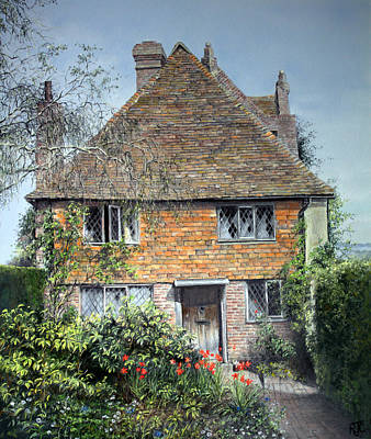 Poster featuring the painting The Priests House Sissinghurst Castle by Rosemary Colyer