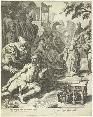 The Prodigal Son Left Page, Jacob De Gheyn II Poster by Jacob De Gheyn (ii) And Petrus Hogerbeets