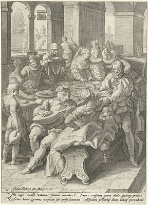 The Prodigal Son Squanders His Money On Prostitutes Poster