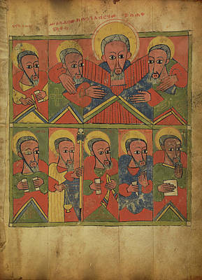 The Prophets With Abraham Embracing Isaac And Jacob Unknown Poster