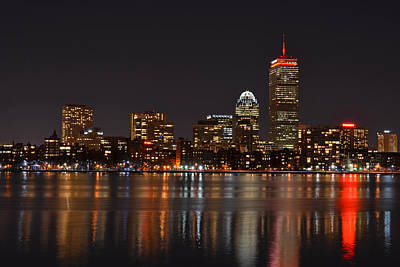 The Pru Lit Up In Red Poster