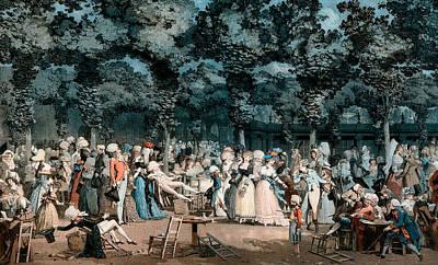 The Public Promenade Poster by Philibert-Louis Debucourt