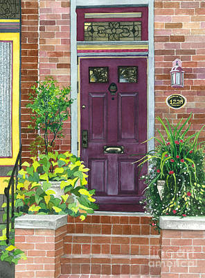 The Purple Door Poster by Barbara Jewell