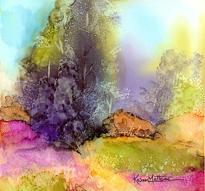 The Purple Tree Poster by Karen Mattson