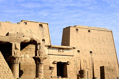 The Pylons Of Edfu Temple Poster