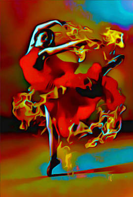 The Pyro Dancer Poster by  Fli Art
