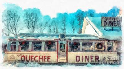 The Quechee Diner Vermont Poster by Edward Fielding