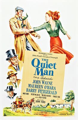 The Quiet Man, Top From Left John Poster by Everett