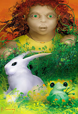The Rabbit And The Frog Poster
