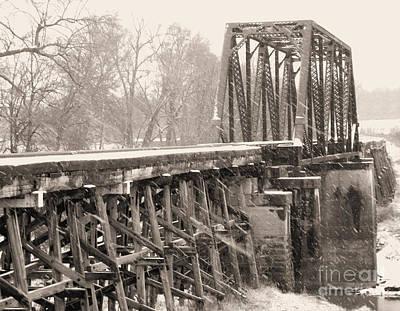 The Rail Bridge Poster by R McLellan