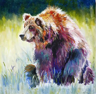The Rainbow Bear Poster by P Maure Bausch