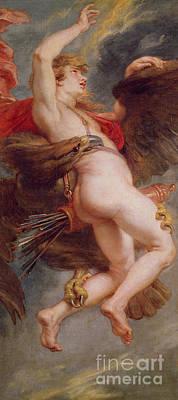 The Rape Of Ganymede Poster by Rubens