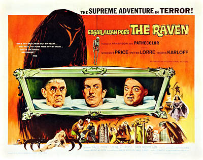 The Raven, Us Lobbycard, From Left Poster by Everett