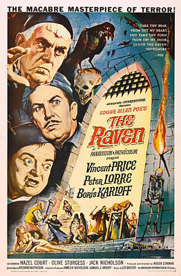 The Raven Vintage Movie Poster Poster