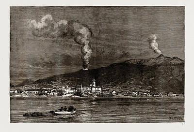 The Recent Eruption Of Mount Etna, Sicily Poster