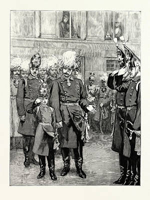 The Reception Of The Crown Prince Of Prussia Into The First Poster by German School
