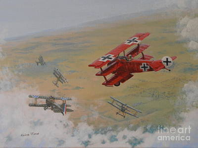 The Red Baron Poster by Elaine Jones