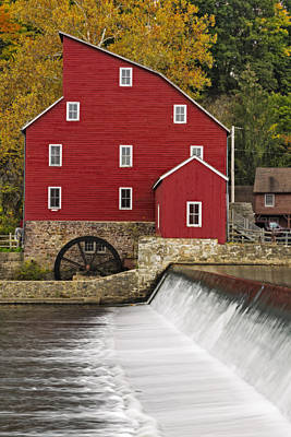 The Red Mill At Clinton Poster by Susan Candelario