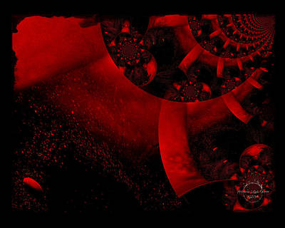 The Red Planet Cometh Poster by Absinthe Art By Michelle LeAnn Scott