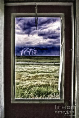 Poster featuring the photograph The Red Storm Door by Brad Allen Fine Art