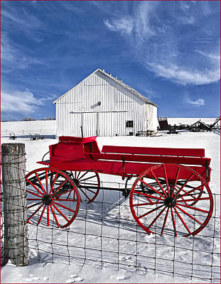 The Red Wagon Poster by Wendell Thompson